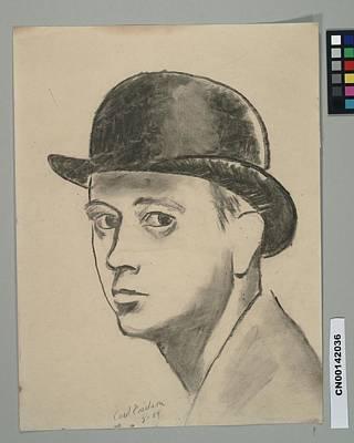 Self Portrait Digital Art - Self-portrait Sketch Of Carl Erickson by Carl Oscar August Erickson