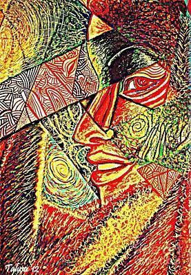 Tonga Digital Art - Self Portrait by Teleita Alusa