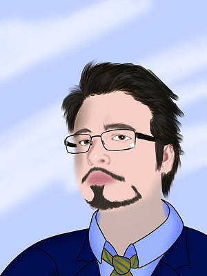 Tony Stark Digital Art - Self Portrait by Tony Stark