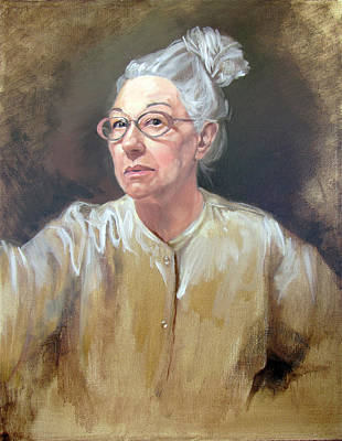 Painting - Self Portrait White Satin by Kathryn Donatelli