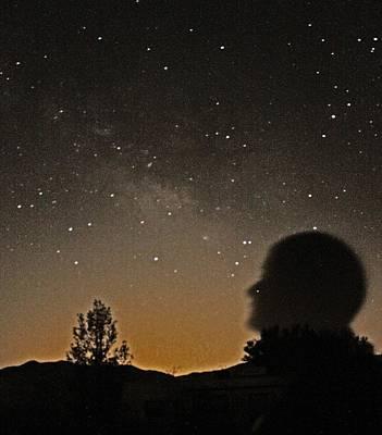 Canon Rebel T2i Photograph - Self Portrait With A Galaxy 2 by Carolina Liechtenstein