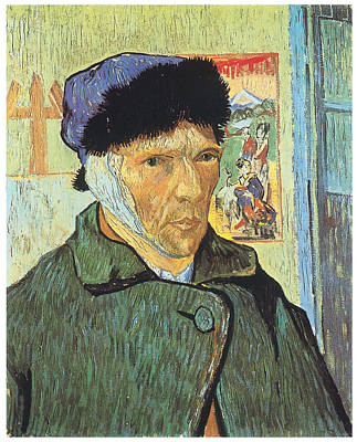 Artist Self Portrait Painting - Self-portrait With Bandaged Ear by Vincent Van Gogh
