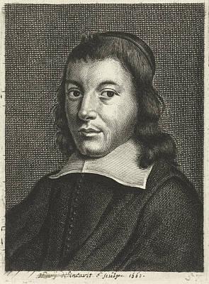 Self-portrait Drawing - Self Portrait With Cap, Hendrik Bary by Hendrik Bary