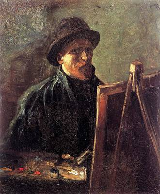 Felt Painting - Self-portrait With Dark Felt Hat At The Easel by Vincent van Gogh