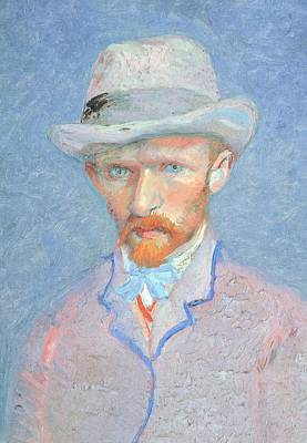 Contemporary Symbolism Painting - Self-portrait With Gray Felt Hat by Vincent van Gogh