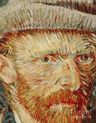 Amsterdam Painting - Self-portrait With Hat by Vincent van Gogh