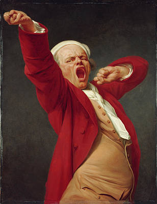 Yawning Painting - Self-portrait, Yawning Joseph Ducreux, French by Litz Collection