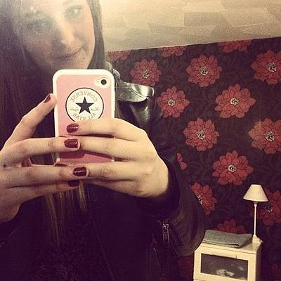 I Phone Photograph - Selfie #room #home #yay #converse by Emma Carpenter