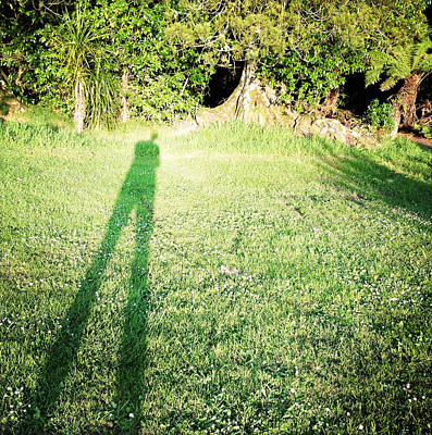 Selfie Shadow Art Print by Les Cunliffe