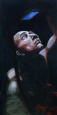 Subterranean Painting - Subterranean Homesick Alien by Tijmen Brozius
