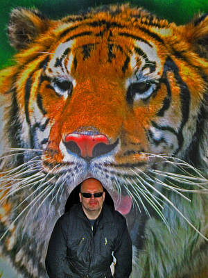 Selfie With The Tiger. Art Print by Andy Za
