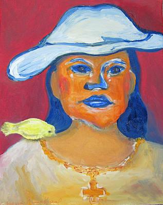Painting - Selfportrait by Barbara Anna Knauf