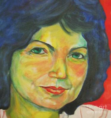 Dagmar Painting - Selfportrait by Dagmar Helbig