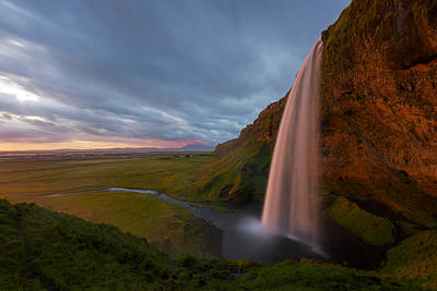 Photograph - Seljalandfoss Sunset by Joseph Rossbach