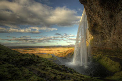 Mountain View Photograph - Seljalandsfoss by Max Witjes