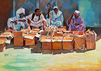 Painting - Sellers by Mohamed Fadul