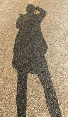 Photograph - Sellfie Shadow by E Faithe Lester
