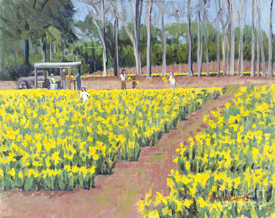Calhouns Painting - Selling Daffodils by Candace Lovely