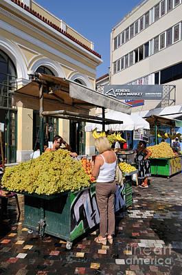 Flea Market Photograph - Selling Fruits In Monastiraki Square by George Atsametakis