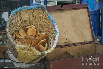 Rabat Photograph - Selling Pita Bread by Patricia Hofmeester