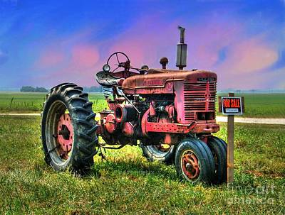 Selling The Farmall Art Print by Julie Dant