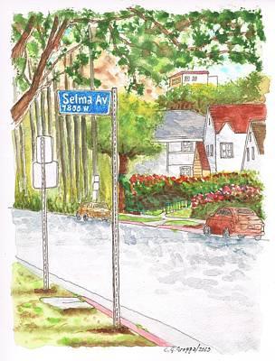 Selma Ave In West Hollywood - California Art Print by Carlos G Groppa