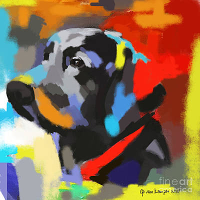Painting - Dog Sem by Go Van Kampen