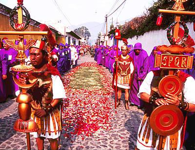 Photograph - Semana Santa - Centurions by Robert  Rodvik