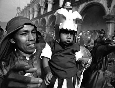 Photograph - Semana Santa - Father And Child by Robert  Rodvik