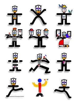Mallorca Digital Art - Semaphore by Charles Stuart