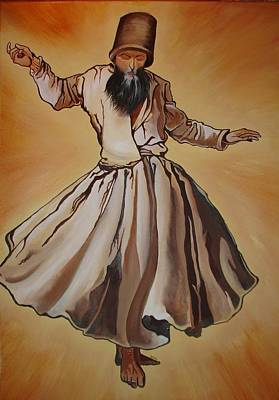 Painting - Semazen Whirling Dervish by Tracey Harrington-Simpson