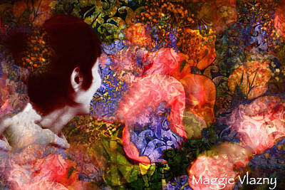 Painting - Girl Looking Toward Future by Femina Photo Art By Maggie