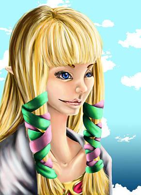 Semi Realistic Zelda Original by Claudia Laube