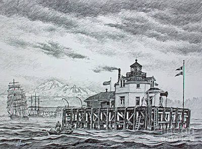 Semiahmoo Lighthouse - Drawing Original