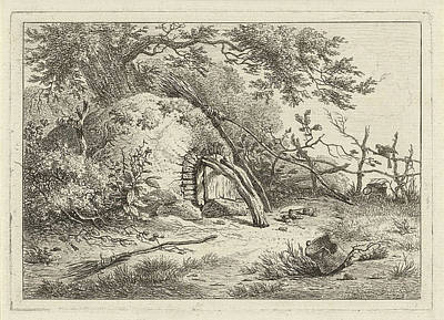 Semicircular Oven At A Tree, Against The Oven Is A Broom Art Print by Artokoloro