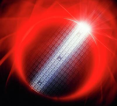 Ic Photograph - Semiconductor Wafer by Alfred Pasieka