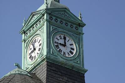 Photograph - Seminary Clock Tower by Dave Hall