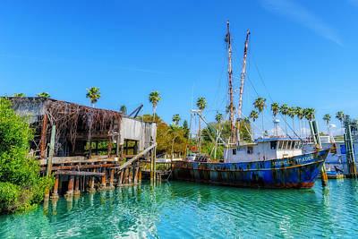 Seminole Trader Shrimp Fishing Boat Art Print