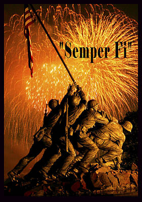 4th July Digital Art - Semper Fi by Government Photographer