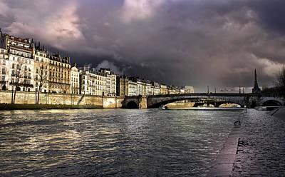 Photograph - Sena River After Storm by Radoslav Nedelchev