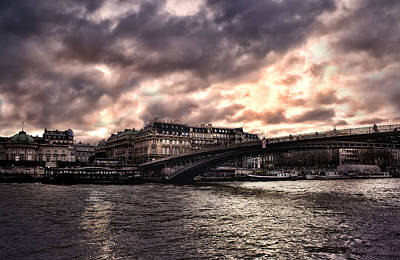 Photograph - Sena River Incoming Storm by Radoslav Nedelchev