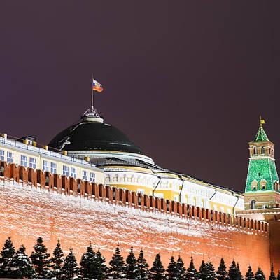 Senate Building Of Moscow Kremlin - Square Art Print by Alexander Senin