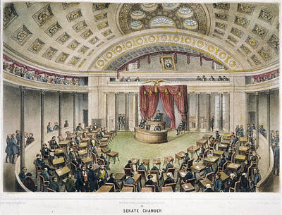 Senate Painting - Senate Chamber In Capitol by Granger