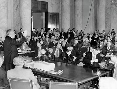 Senate Hearing Photographers Art Print