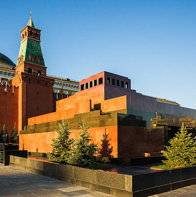 Senate Tower And Lenin's Mausoleum - Square Art Print