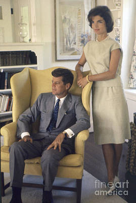 Senator John F. Kennedy With Jacqueline 1959 Art Print