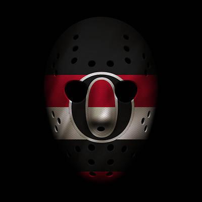 Hockey Photograph - Senators Jersey Mask by Joe Hamilton