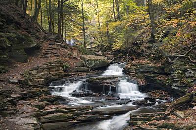 Photograph - Seneca Falls Rolling Into Fall by Gene Walls