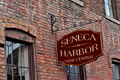 Seneca Lake Photograph - Seneca Harbor Wine Center by Frozen in Time Fine Art Photography
