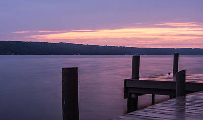 Waterscape Photograph - Seneca Lake New York - After Sunset by Photographic Arts And Design Studio